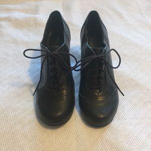 Dark Brown Lace Up Heels
